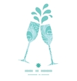 Soft peacock feathers toasting wine glasses vector