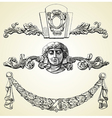 The reliefs of the 19th century kiev buildings vector