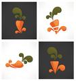 Carrot symbols vector