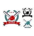 Baseball symbols vector