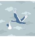 Stork bears the kid vector