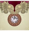 Ornate diamond luxury background vector