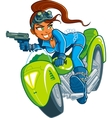 Motorcycle spy girl vector