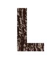 Bark letter l vector