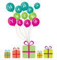 Happy new year and gift boxes vector