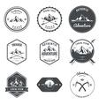 Mountain adventure hiking explorer equipment vector