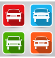Cars flat icons vector