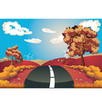 Autumn landscape with road vector
