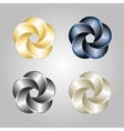 Logo or emblem template abstract swirl icon vector