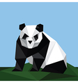 Origami panda on grass vector