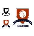 Basketball sports emblems and symbols vector