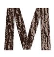 Bark letter m vector