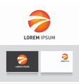 Business card template editable with logo sphere vector