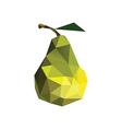 Origami pear vector