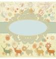 Christmas deer tempate card eps 8 vector