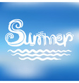 Creative graphic for summer watercolor vector