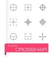 Black crosshair icon set vector