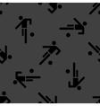 Football player web icon flat design seamless gray vector