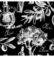 Vintage olive seamless pattern vector