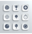 Sport icons set - white app buttons vector