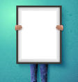 Poster mockup with place for your design vector