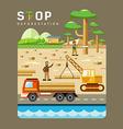 Deforestation concepts flat design vector