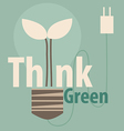Think green eco concept light bulb with tree vector