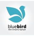 Abstract blue bird logotype concept isolated on vector