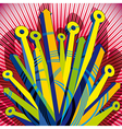 Abstract with 3d arrows vector