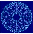 Blue oriental ottoman design thirty four vector