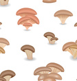Seamless texture with edible mushroom oysters vector