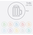 Glass of beer sign icon alcohol drink symbol vector