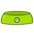 Empty dog bowl vector