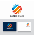 Logo sphere orange blue vector