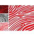 Red and white zebra skin vector