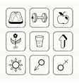 Simple medical icons set vector