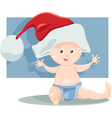 Baby boy santa cartoon vector
