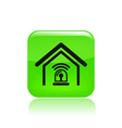 Station alarm icon vector
