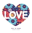 Colorful bouquet flowers love text frame vector