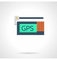 Gps device flat icon vector