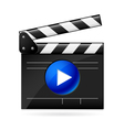 Open movie clapboard on white background vector