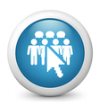 Social network glossy icon vector