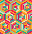 Hexagon mosaic pattern vector
