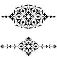 Ottoman motifs black design series of fifty four vector