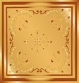 Background vintage style design abstract golden vector