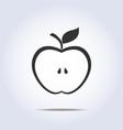 Apple half icon vector
