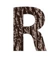 Bark letter r vector