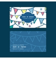 Colorful doodle bunting flags horizontal frame vector