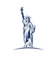 Statue of liberty image concept of freedom vector