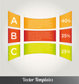Options tabs template vector